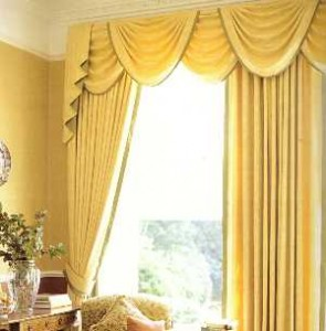 Traditional swag curtains