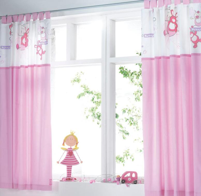 Girl room curtains for Curtain fabric for baby nursery