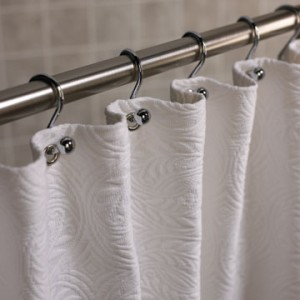 How to make shower curtains How to hang shower curtains