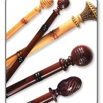 wood curtain rods with finials