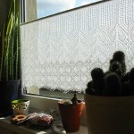 Battenburg lace curtains - Vintage battenburg lace